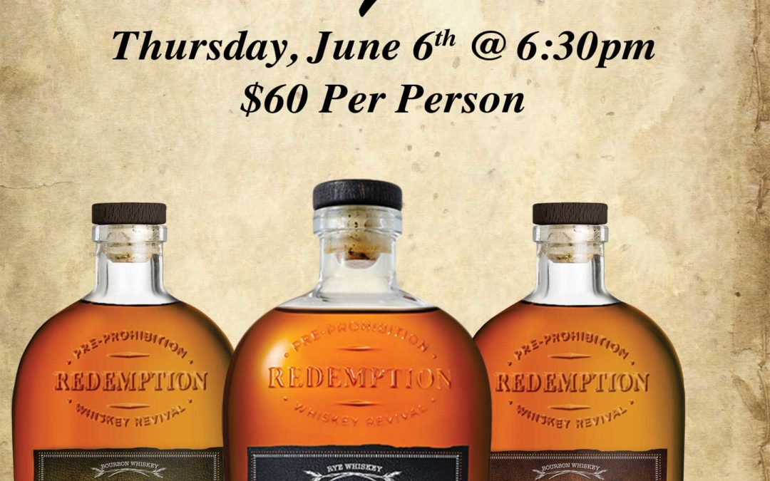 Redemption Whiskey Dinner